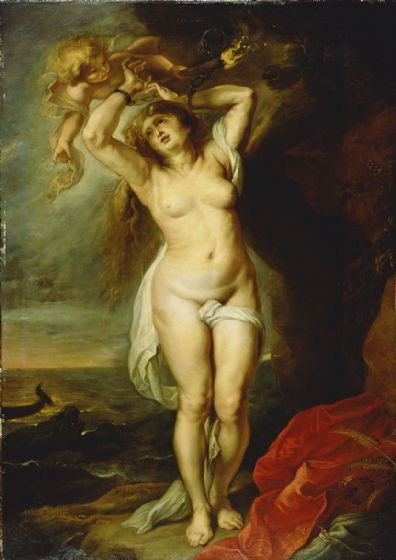Rubens, Peter Paul (Workshop of): Andromeda. Fine Art Print/Poster. Sizes: A4/A3/A2/A1 (004025)